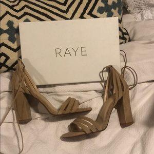 RAYE Shoes - Brand new Raye tan suede heels